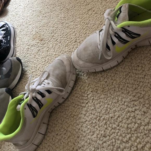 f4e7d11c453bea Nike Shoes | White And Neon Green Tennis | Poshmark